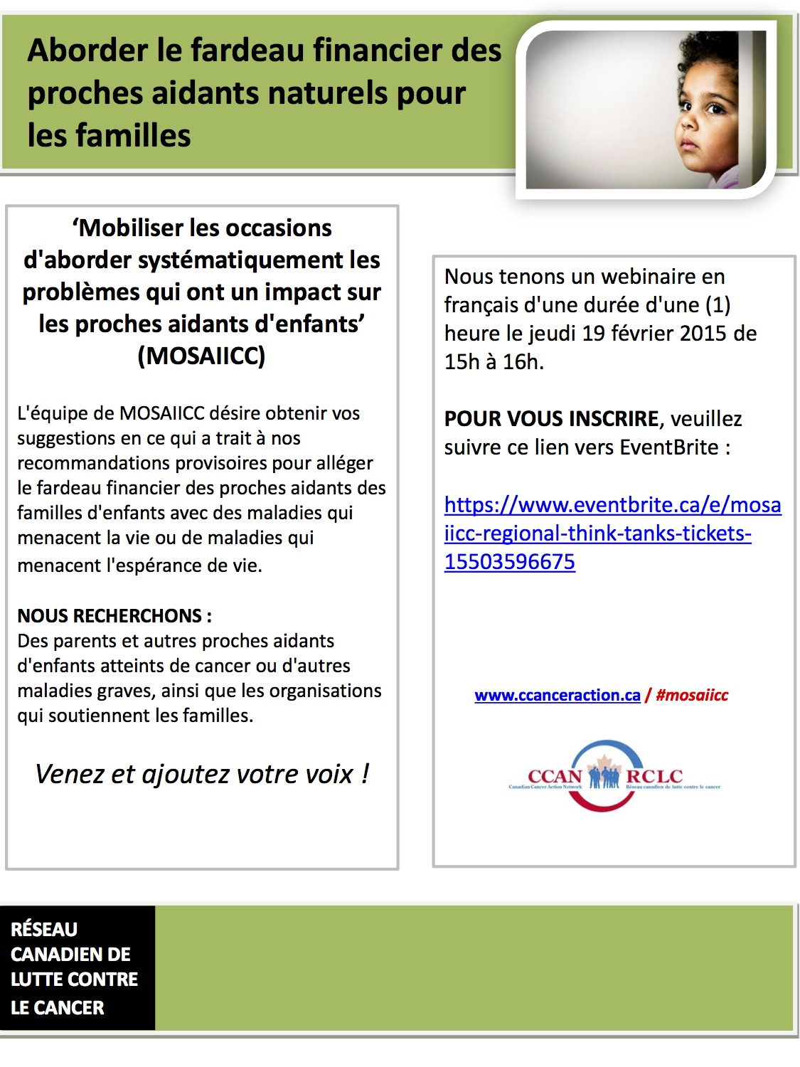 MOSAIICC Flyer French